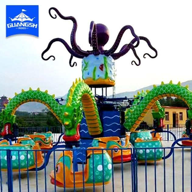 Amusement Park Rides Rotating Big Octopus for Kids Factory Direct Supply