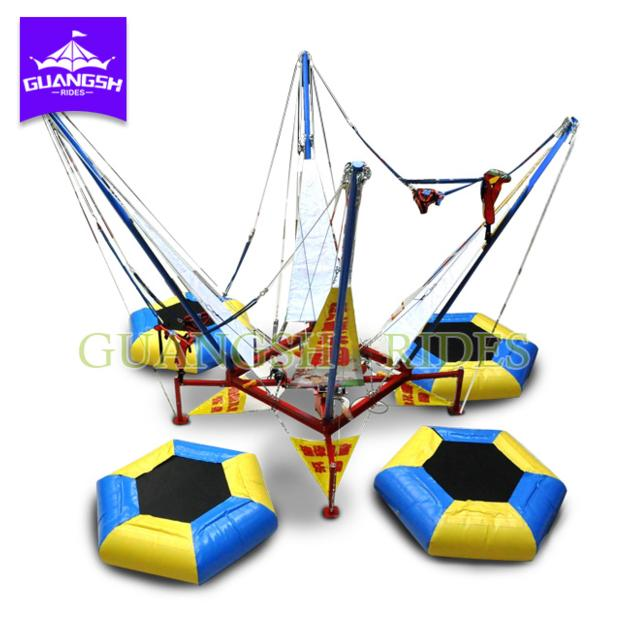 Bounce Trampoline Inflatable Bungee Jumping Equipment for kids