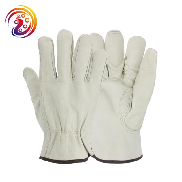 cow split leather BBQ Camping cooking weld Gloves baking grill fireplace fireproof gloves