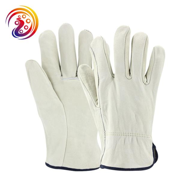 Split leather design heavy duty industrial safety mechanics woodworking gloves