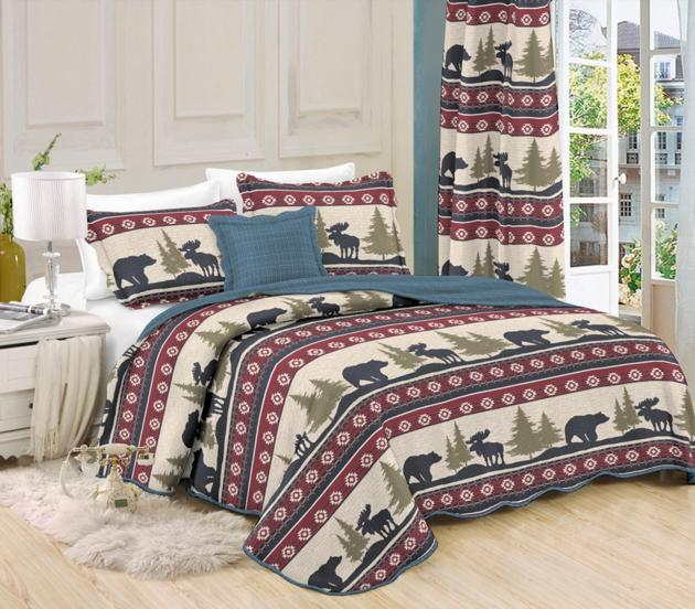 floral comforter queen quilt set HJ home fashion