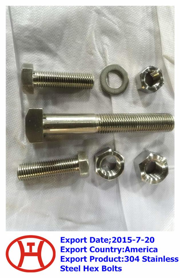 304 Stainless Steel Hex Bolts