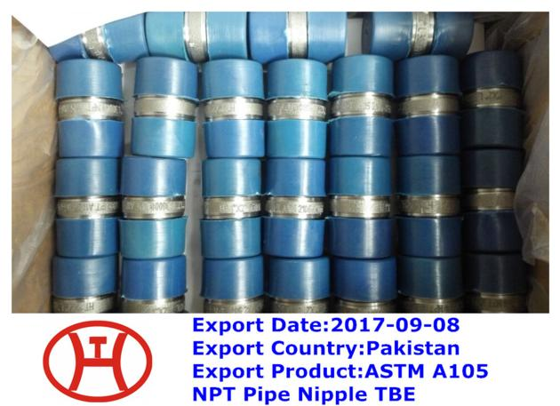 ASTM A105 NPT Pipe Nipple TBE