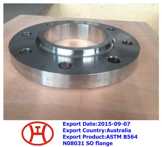ASTM B564 N08031 SO flange