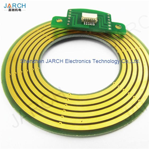 Through Hole Compact High Speed Pancake Slip Ring Connector for CNC Equipment