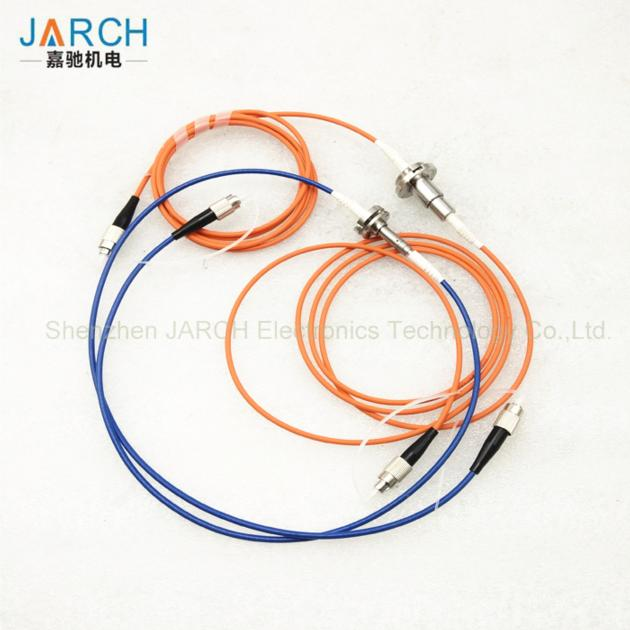 1 channel Fiber Optic Rotary Joint with electronic slip ring FC Connector