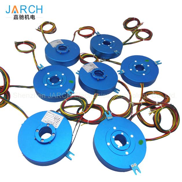 Through hole size 3mm-70mm Flat PCB pancake slip ring flanges connectors
