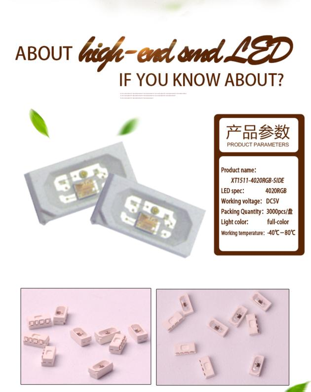 Jercio sk6812-4020 individually addressable smd led project