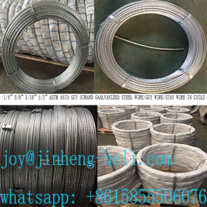 Zinc coated steel wire strand/ACSR Cord wire/Cable wire