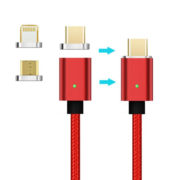 Magnetic UsbCharging Cable 3 In 1 For Android & Type C Smart Phone  Fast Charging data cable