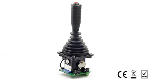 RunnTech Single Axis Spring Return to Nutural Joystick with +/-10V Proportional Output