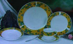 Sell a stock of porcelain dinner sets and mugs