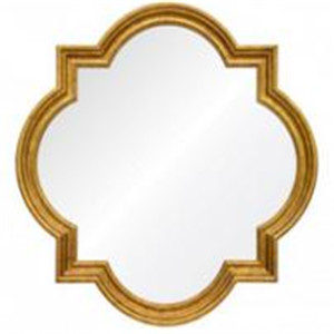 Totem decorative wall mirror with gold leafing for livingroom/bathroom/dining room