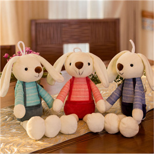 2019 Hot Selling Wholesale custom decoration cute long-eared rabbit plush stuffed toy