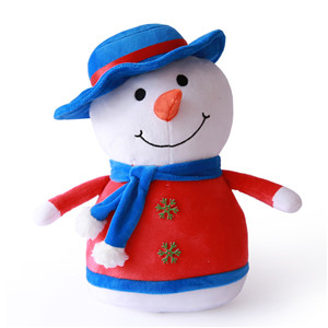 Hot Selling Make Your Own Design Christmas Gifts Snowman Penguin Oem Plush Toys Manufacturer