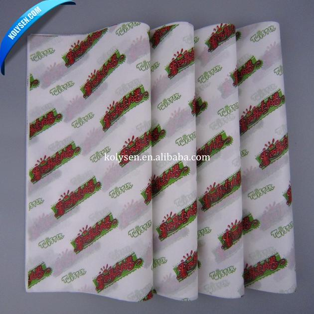 custom printed wax paper Give your brand a personal touch by making your own tissue we have many different custom print programs to meet your branding needs customize our stock patterns with our bulid your own design program 10 ream minimum.