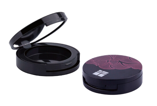 2.6g C001 single black Eyeshadow Compact with mirror