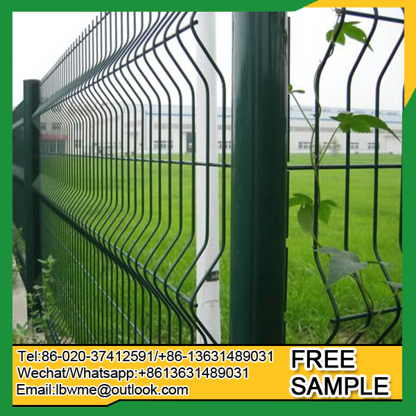 4x4 welded wire mesh fence curved fencing