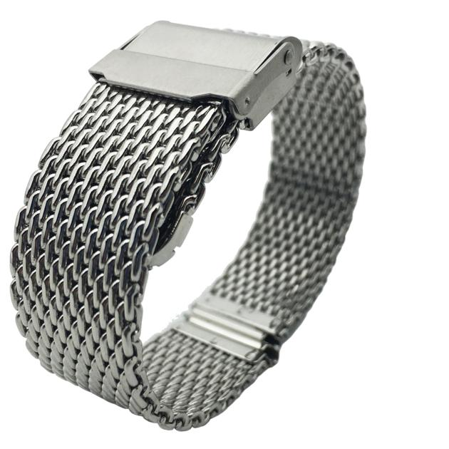 Mesh Watch Band in Stainless Steel Milanese Straps
