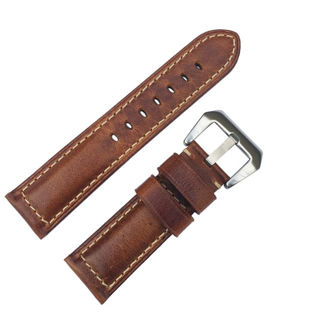 Leather watch band Brown 16mm 18mm 20mm 22mm 24mm