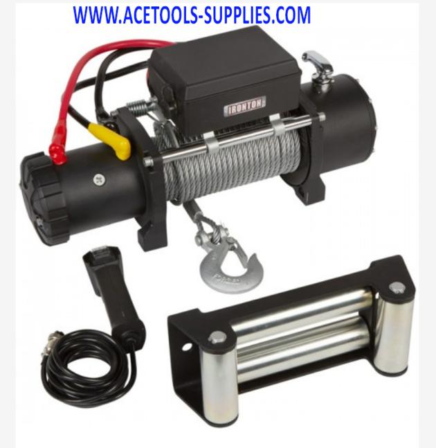 Powered Electric Truck Winch -Ironton 12 Volt DC- 9000-Lb. Capacity