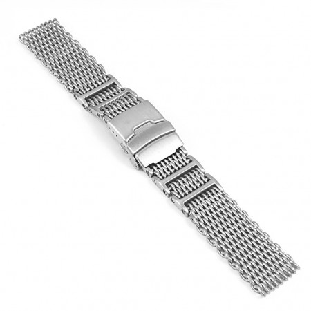 Mesh Watch Band In Stainless Steel