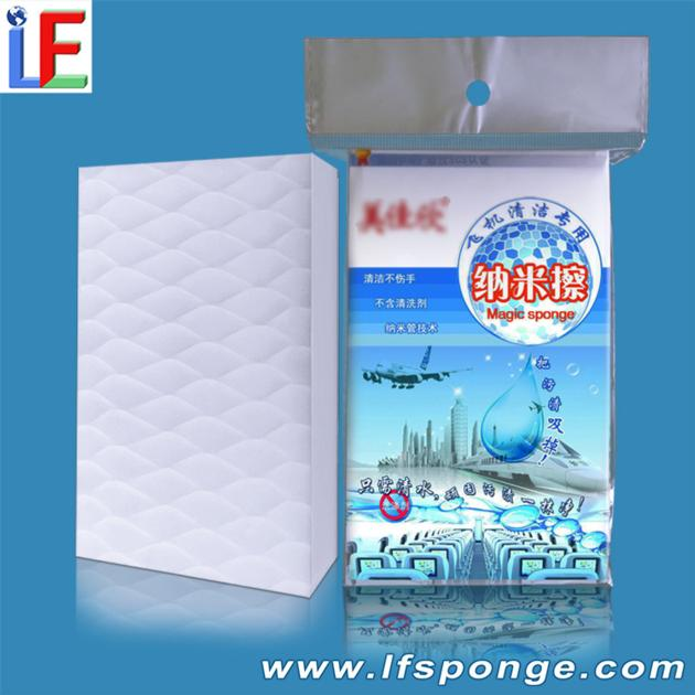 Aircraft interior cleaning sponge compressed melamine sponge not damage the surface of aviation
