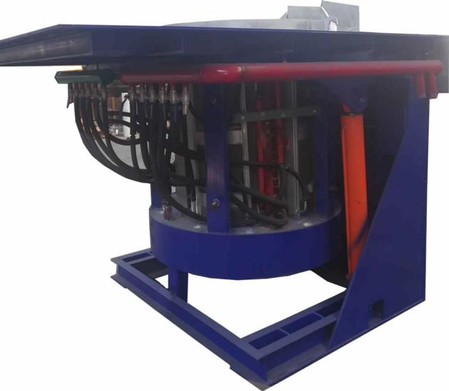 1 ton steel induction melting furnace