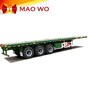 MAOWO heavy duty flatbed 40ft container semi-trailer for sale