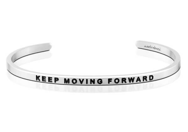 keep moving forward bracelet inspirational bangles
