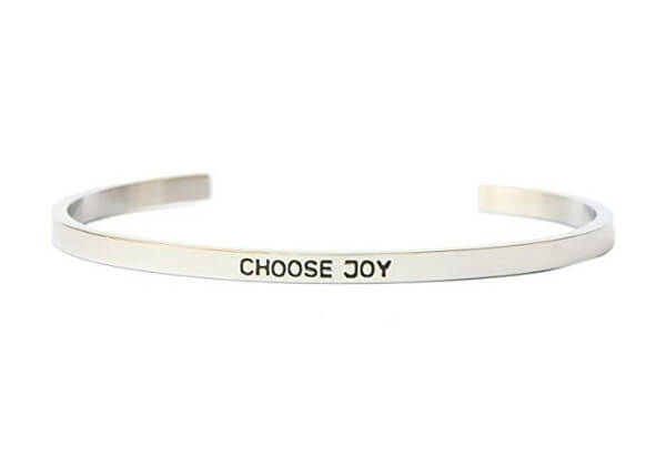 Choose Joy Inspiration Bangle Bracelet Cuff Band