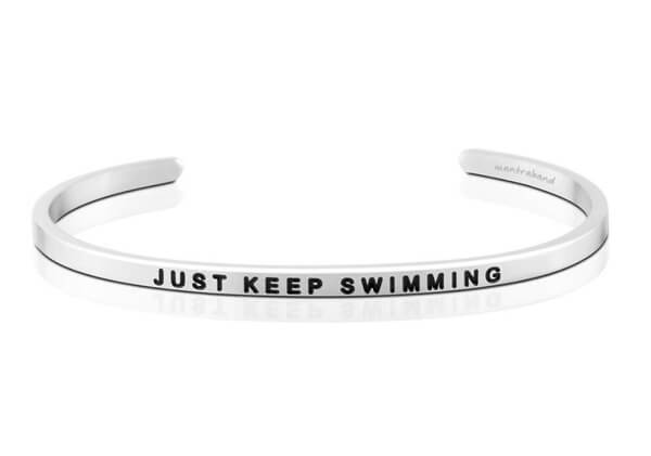 Just keep swimming bracelet bangles