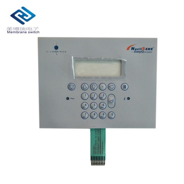 Custom PET/PC Membrane Switch Control Panel With Transparent Window