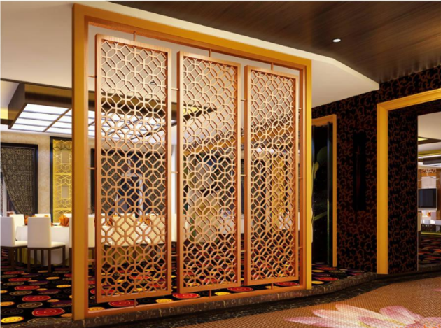 Decorative Hall Wall Stainless Steel Partition