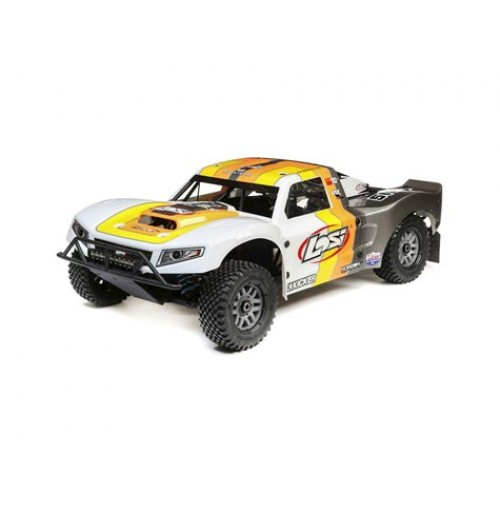 Losi 5IVE-T 2.0 1/5 Bind-N-Drive 4WD Short Course Truck (Grey/Orange/White) - Medanelectronic