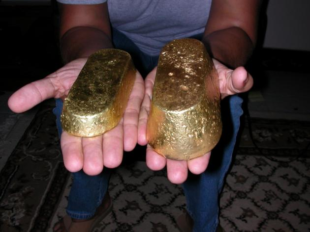 gold bar, gold bullion, gold nuggets, gold dust, raw gold - Foreign