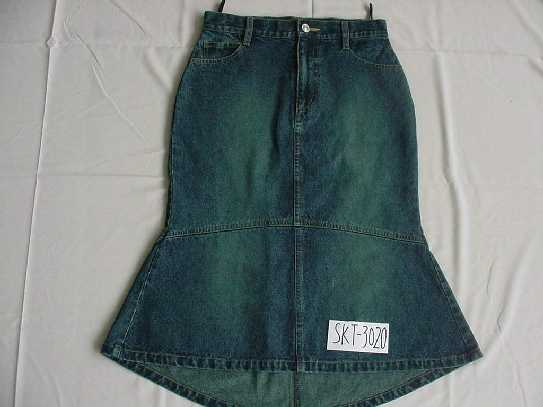 100% COTTON 12 OZ SLUB DENIM SKIRT