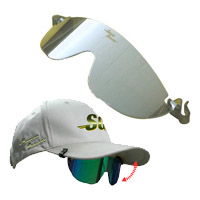 Suncap Glasses (Attachable Sunglasses)