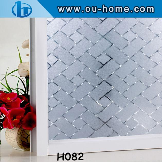 Easy Removable Glue Free 3D Embossing Static Window Film