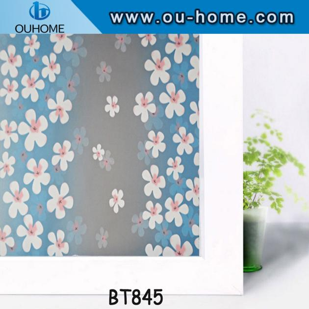 BT845 PVC self adhesive stained frosted vinyl privacy decorative glass window film