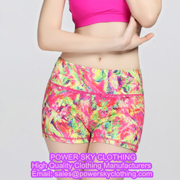 Yoga Shorts From Power Sky Yoga Clothes Supplier