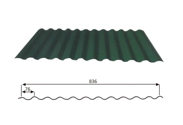 Corrugated Steel Roofing sheet (Wave Style) 17-76-836,Steel Roofing Sheet Manufacturer