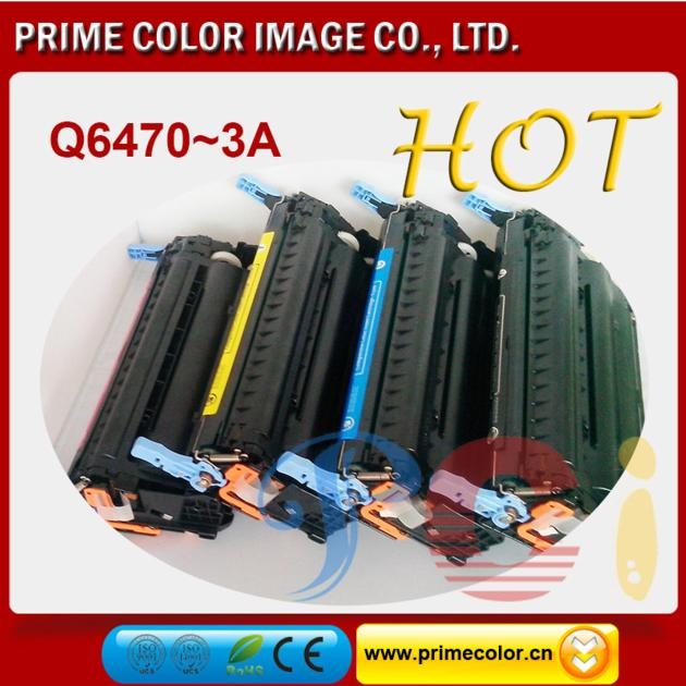 Color Toner Cartridges for HP Q6470-3A/ CAN CRG-711 Reman With chip