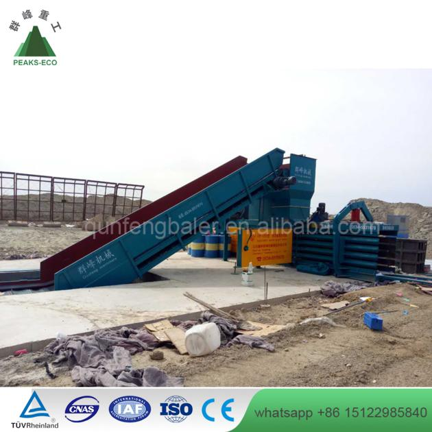 Horizontal Automatic Waste Paper Baler Straw Recycling Machines