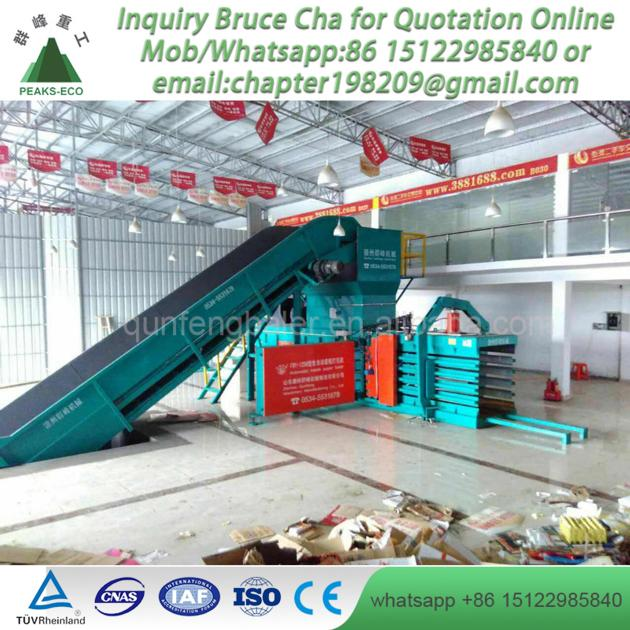 Full Automatic Hydraulic Press Paper Baler for Recycling Center