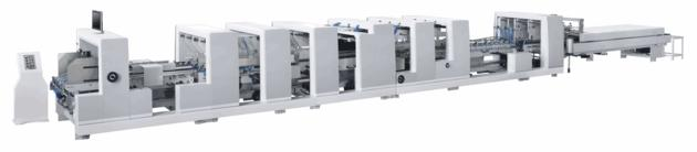 ZH-1050M Automatic 4 6 corner folder gluer machine with higher liner speed
