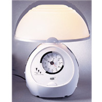 .Table touch sensor lamp with radio & alarm clock