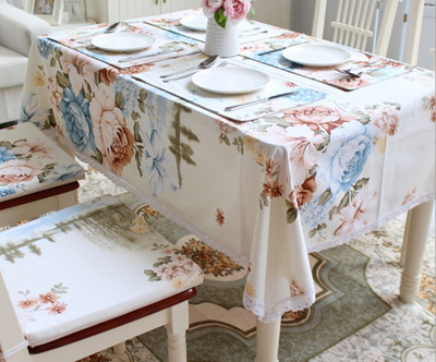 poly cotton printed table cloth