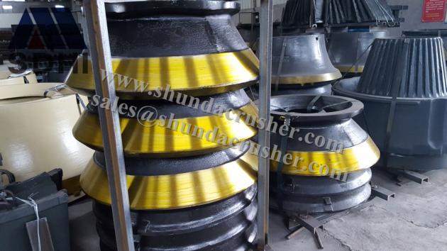 Sandvik H2800 cone crusher standard mantle/concave ring