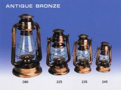 Bronze-plated Hurricane Lanterns